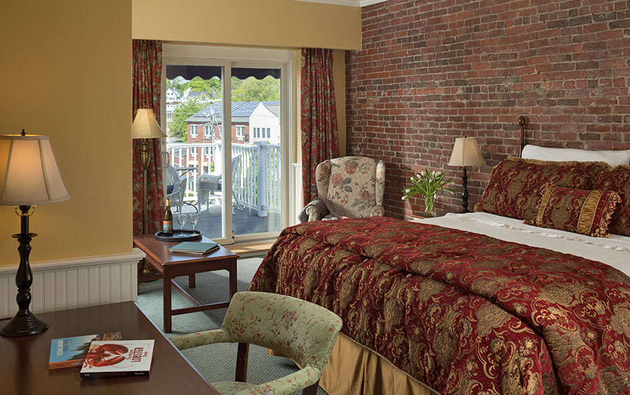 Village View Room at Lord Camden Inn in Camden, Maine