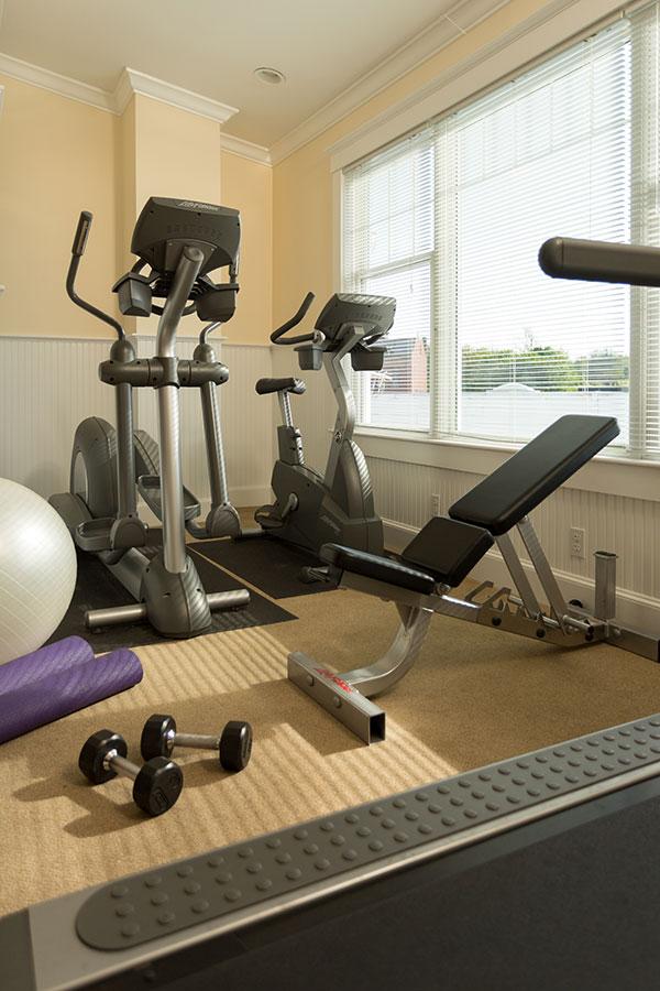 fitness, spa, lord camden inn, camden maine, maine, hotel, vacation